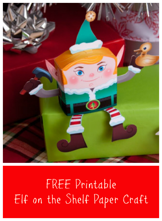 Paper Craft Ideas For Kids Free Part - 19: FREE Printable Elf On The Shelf Paper Craft - Jinxy Kids