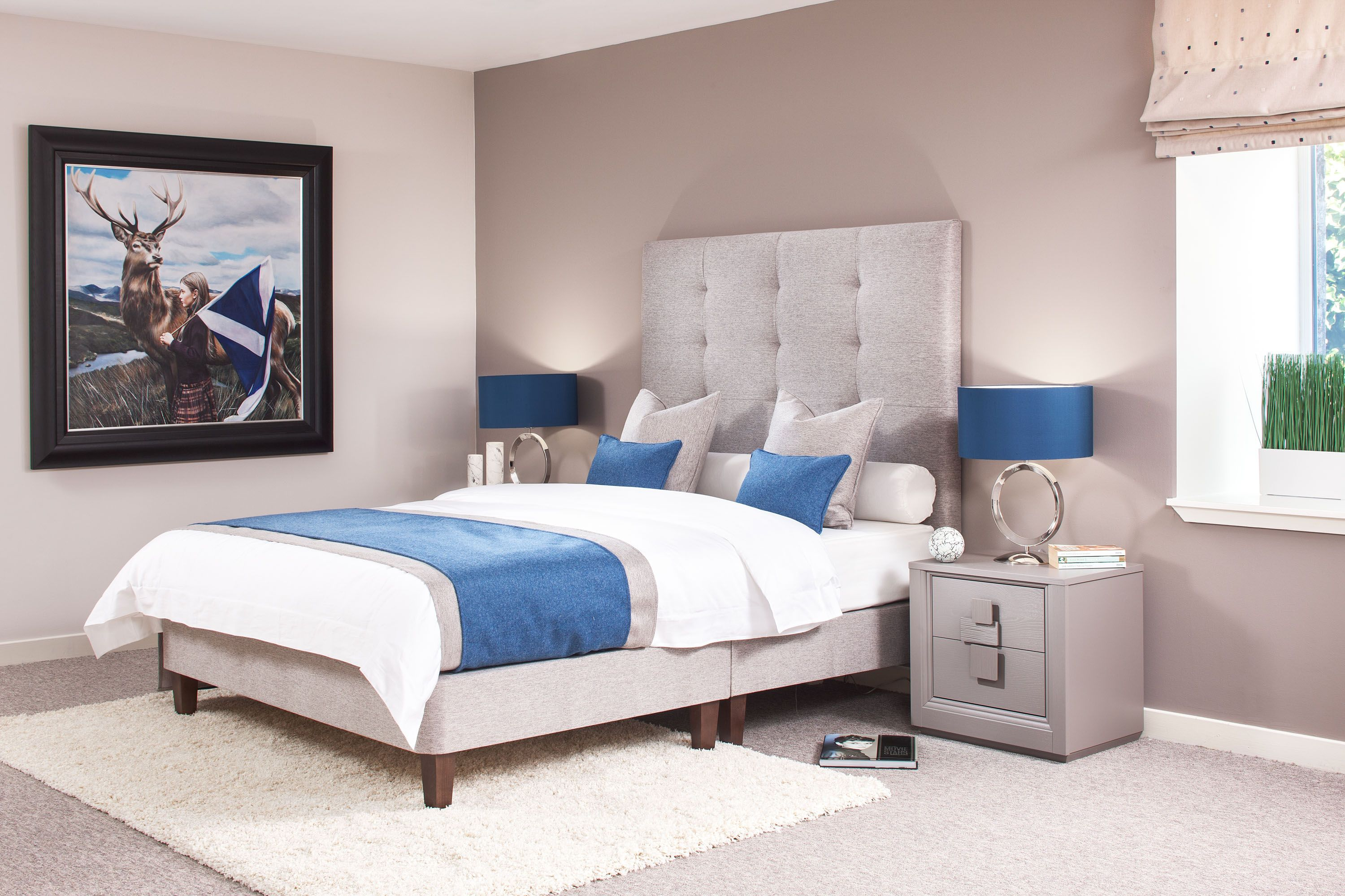 Best Finely Upholstered Bed With Tall Modern Headboard Many 400 x 300