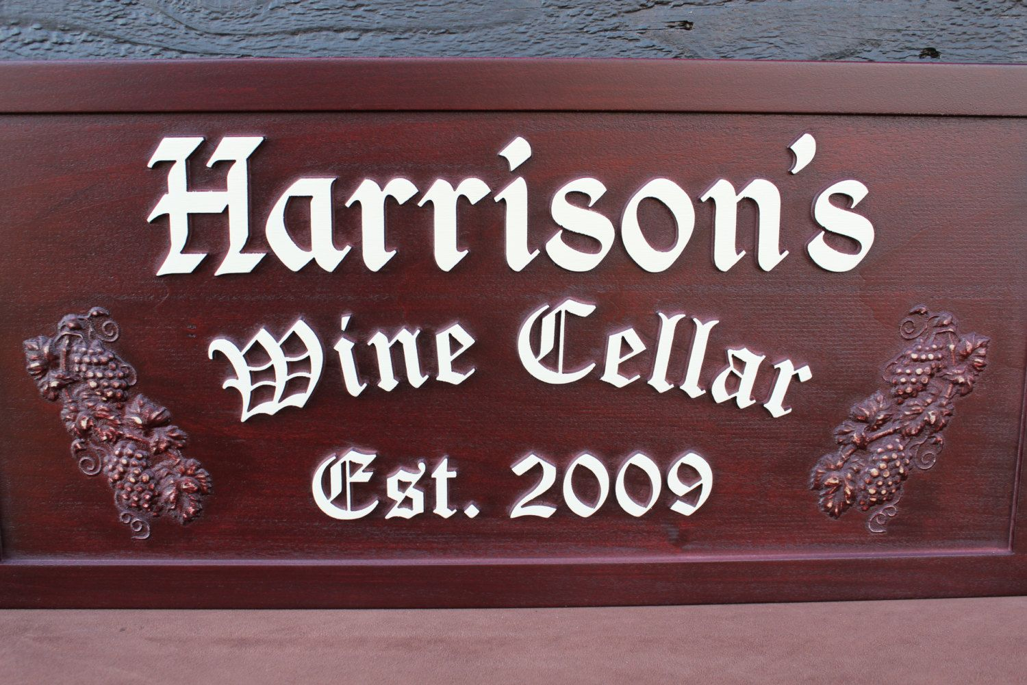 Wooden Wine Cellar Sign Personalized Wine by SmokyMtnWoodcrafts, $64.99