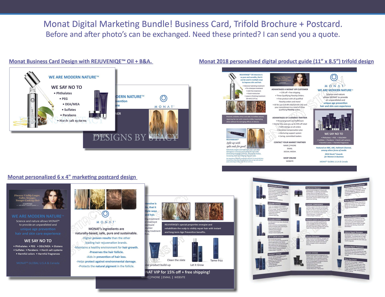 Monat Digital Marketing Bundle! Business Card, Trifold Brochure + ...