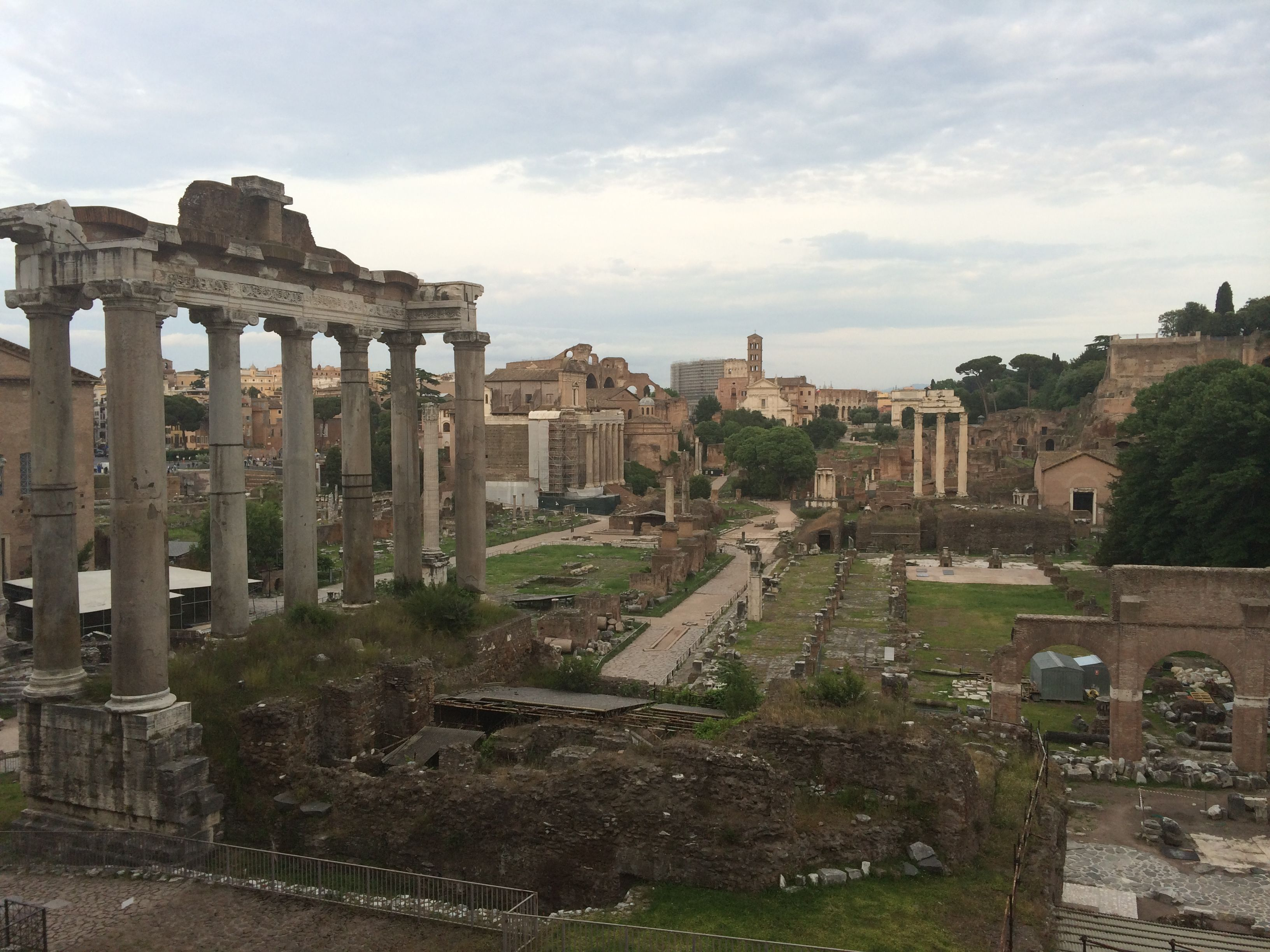 The ancient Roman Forum is a huge complex of ruined ...