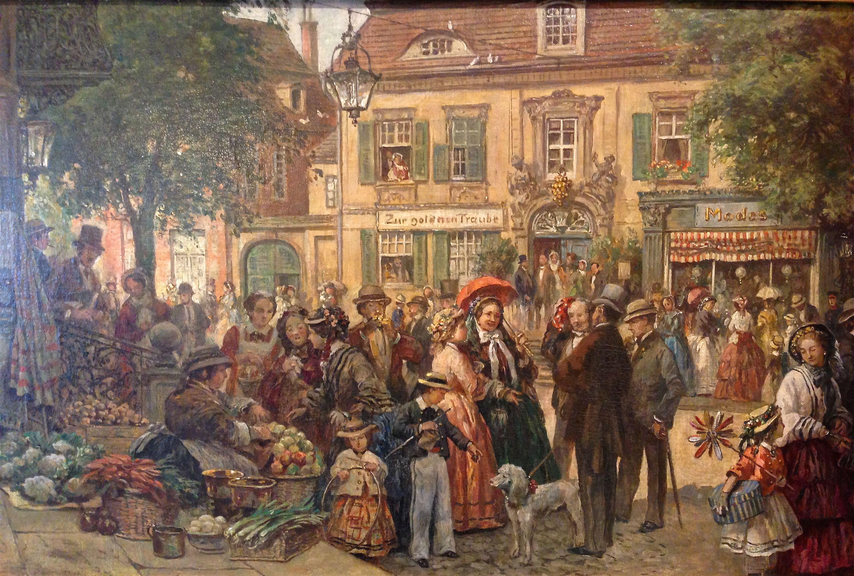 Orginal Ölgemälde um 1880 Öl auf Leinwand sehr fein gemaltes Gemälde ...