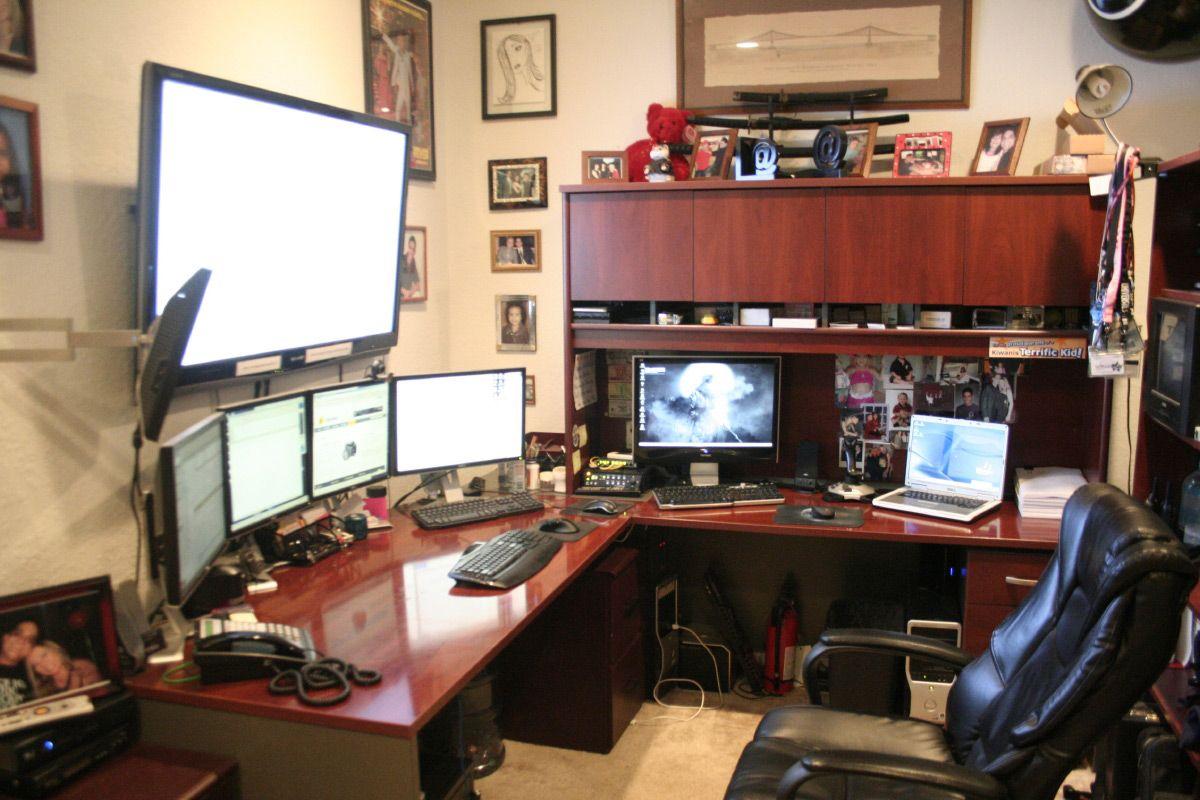 15 Envious Home Computer Setups Home, Home office design