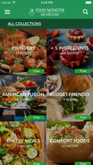 Food Monster 5000 Recipes Vegan Never Looked This Good On The App Store Vegan Recipes Food App Food