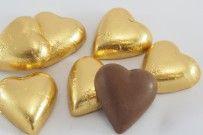 Chocolate Hearts Gems Gold 800g