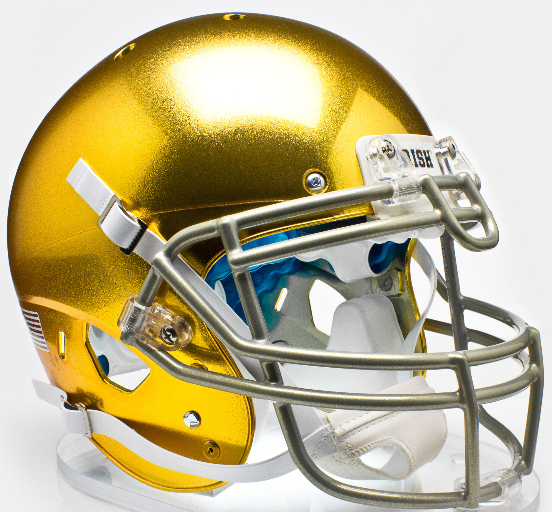 3ea2bb11ba5c Notre Dame Fighting Irish Authentic Schutt XP Full Size Helmet - Textured  with Metallic Facemask