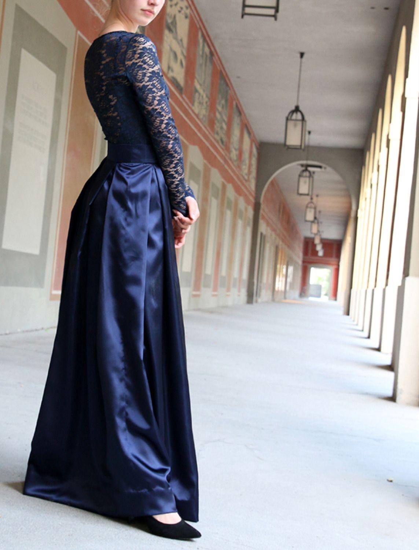 zweiteilge Abendkleider  Abendkleid, Modestil, Langes abendkleid