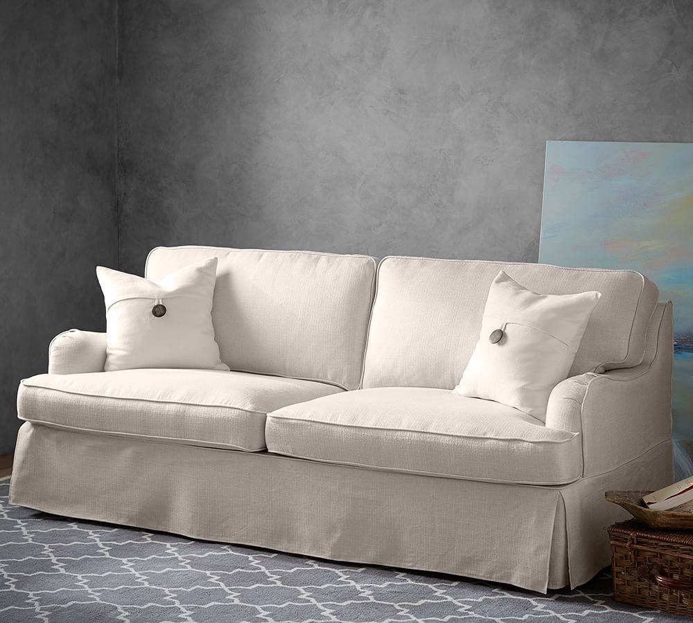 SoMa Hawthorne English Arm Slipcovered Sofa