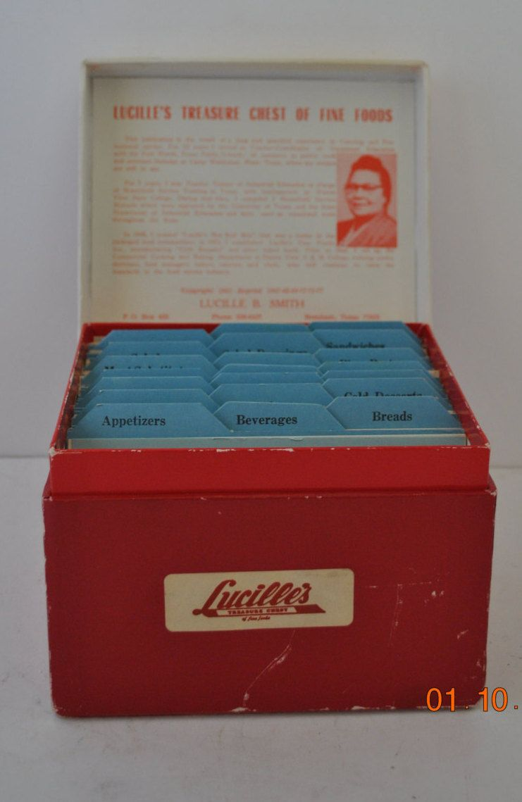 Vintage lucilles treasure chest of fine foods recipe box incldues vintage lucilles treasure chest of fine foods recipe box incldues her most famous recipes forumfinder Gallery