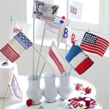 Des petits drapeaux aux couleurs de la France
