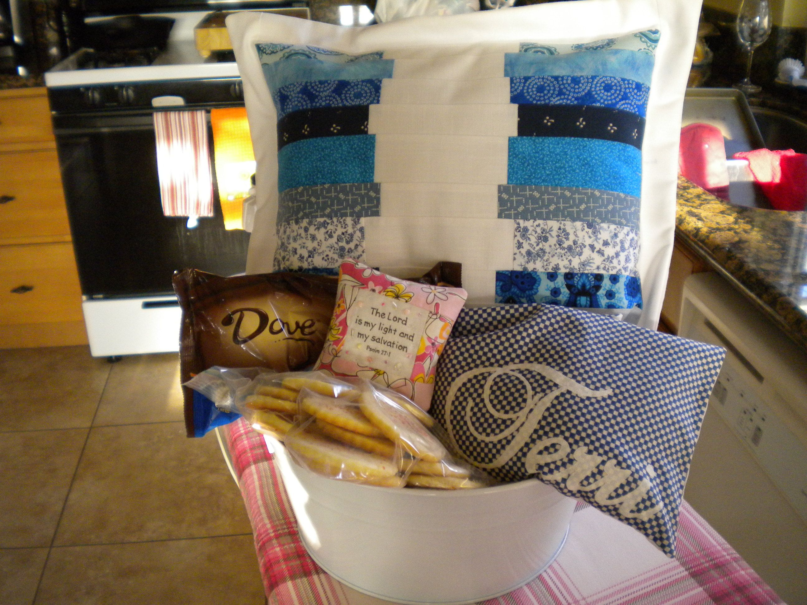 I actually made the pillow and rice bag warmer.... the sachet was made by a friend...