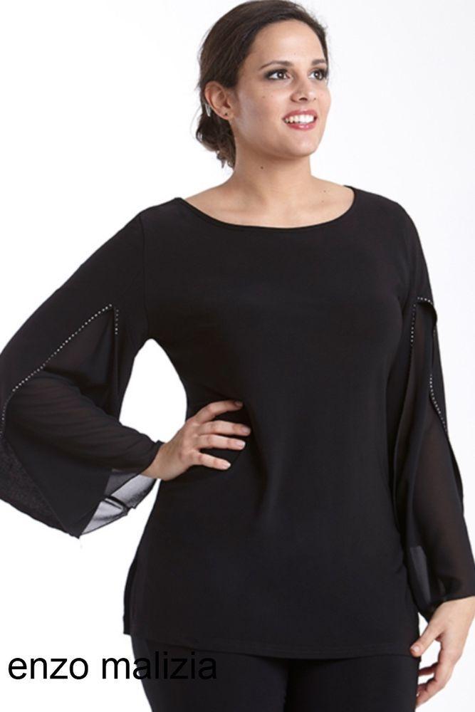 c2a3781b0e maglia elegante donna taglie forti lady xl 0352 taglie l xl xxl xxxl ...