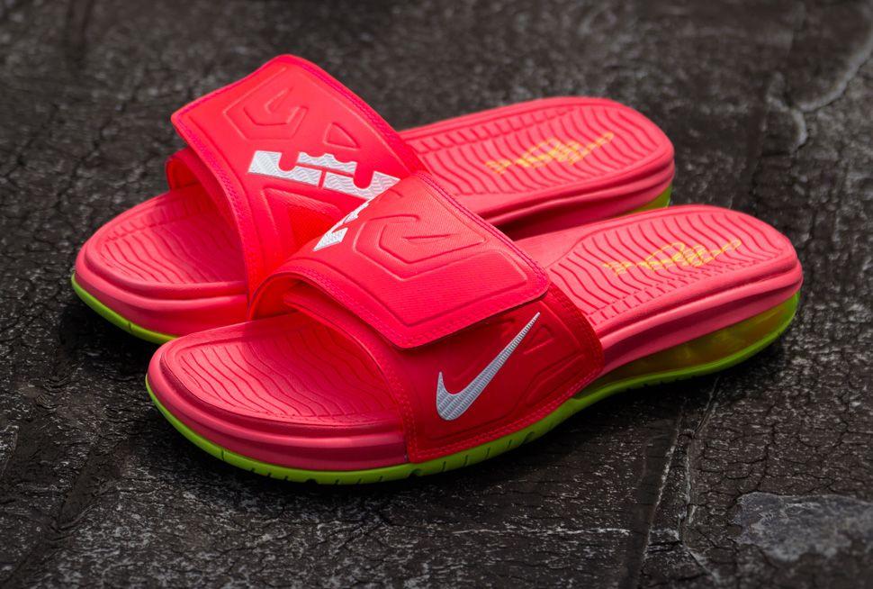 Nike Air Lebron Slide 3 Elite Sandals Black Laser Crimson P60z9511