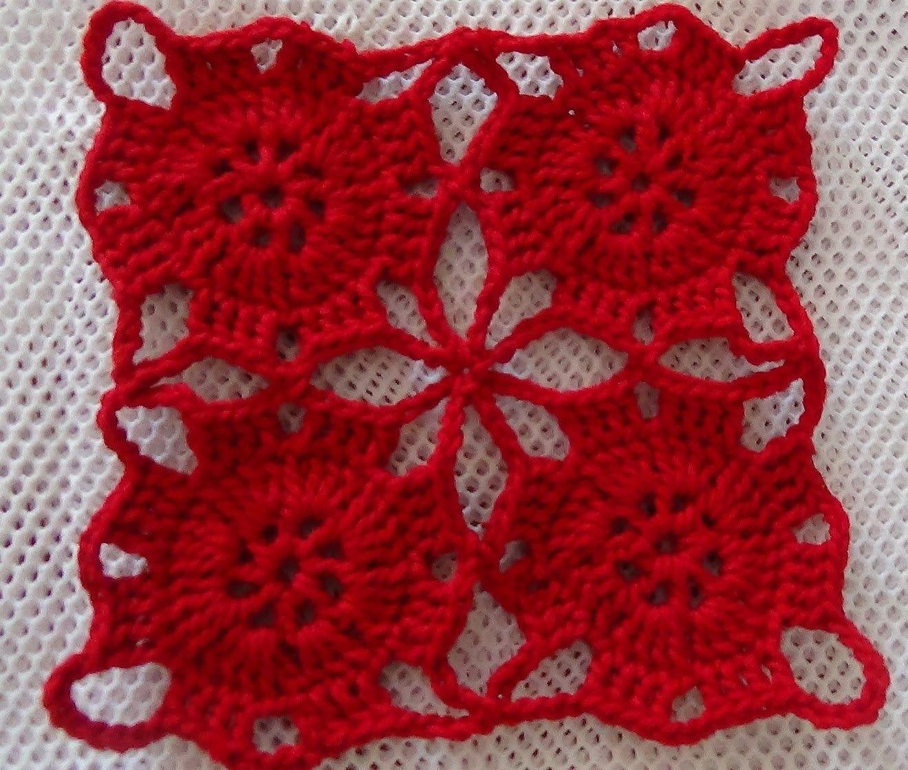 Vídeo Tutorial Como Tejer y Unir Motivos a Crochet | Häkeln
