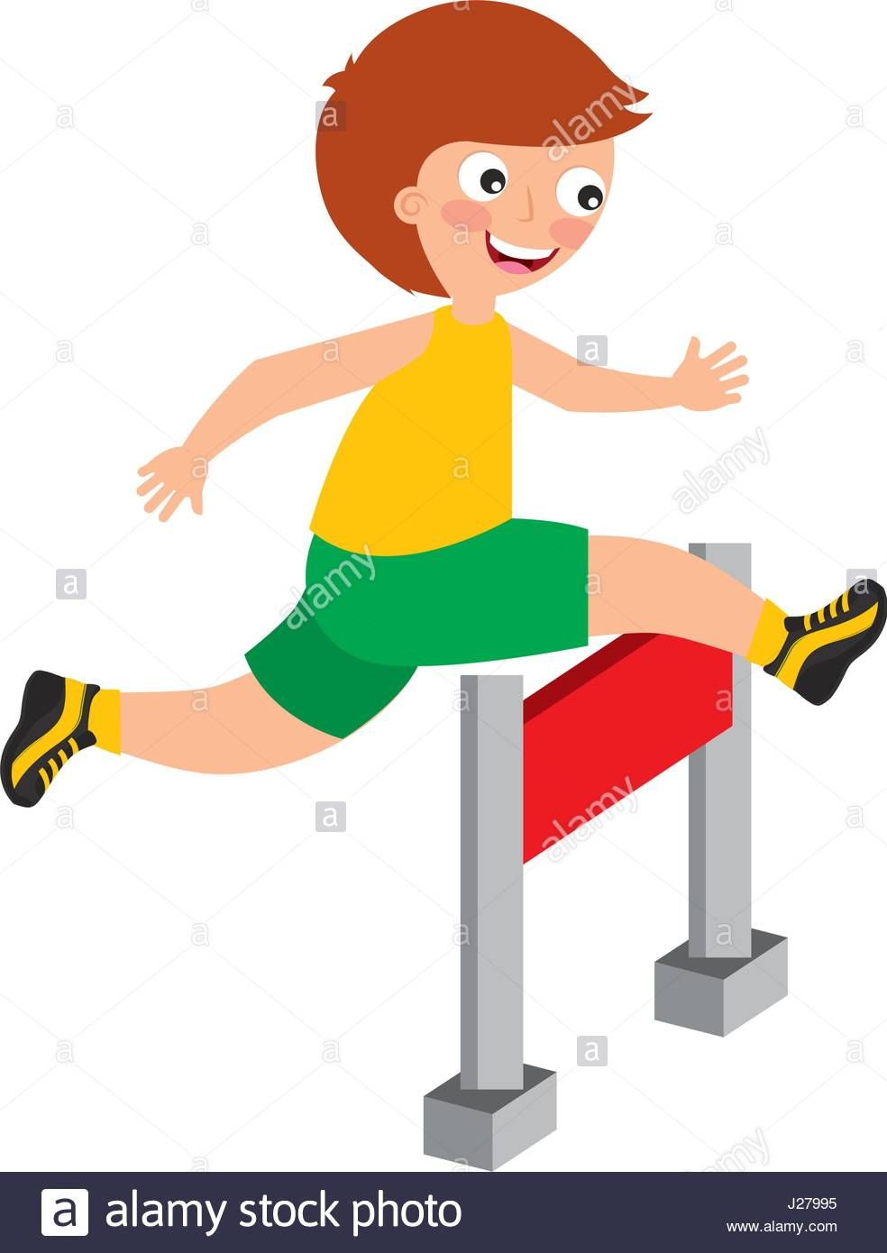 image result for children jumping hurdles clipart running the rh pinterest com