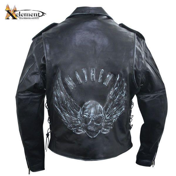 Skull Ride Vintage Classic Style Leather Biker Jacket