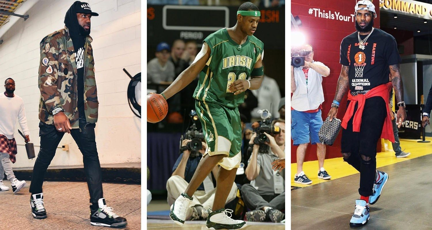 A History of LeBron James Wearing Air