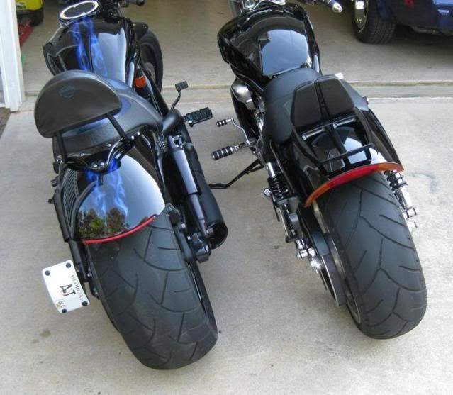 Harley Davidson Vrod Body Kits Here Is A Side By Side Comparison Between A 240 And A 260 Harley Davidson V Rod Harley V Rod V Rod