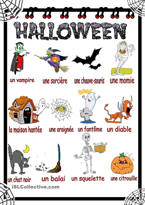 Halloween Vocabulaire | HALLOWEEN INFANTIL | Pinterest ...