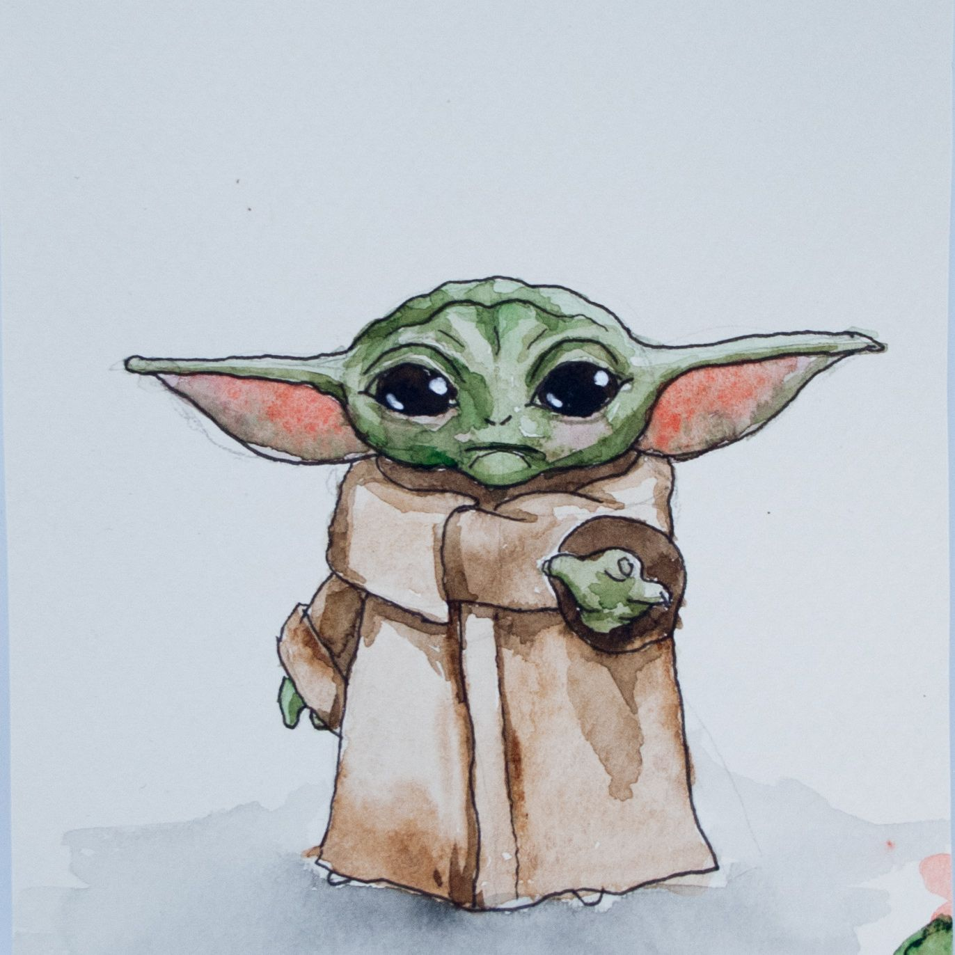 Baby Yoda Art Yoda Art Art Cartoon Drawings