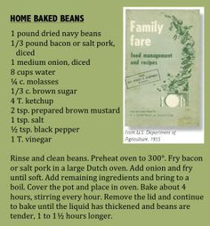 """Senator Hubert Humphrey gave out food management and recipe bulletins in 1955. He knew his beans and that Minnesota was a leading producer. (""""Home Baked Beans"""" from Minnesota State Fair: An Illustrated History, by Kathryn Strand Koutsky & Linda Koutsky, 2007.)"""