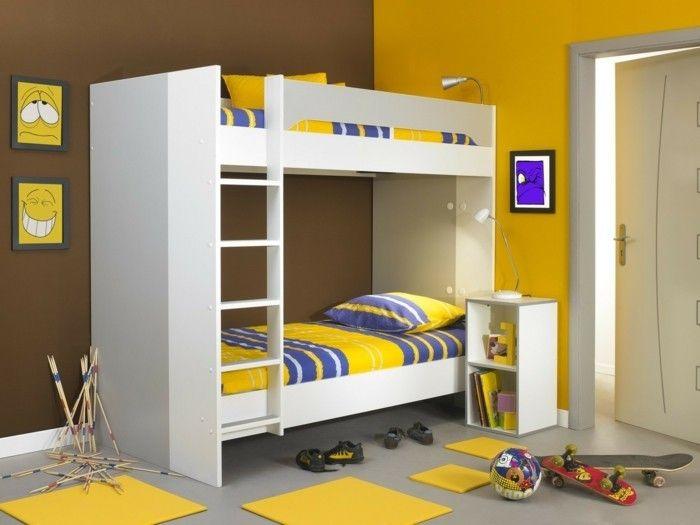 Peinture chambre enfant - 70 idées fraîches | Kid\'s space | Bed ...