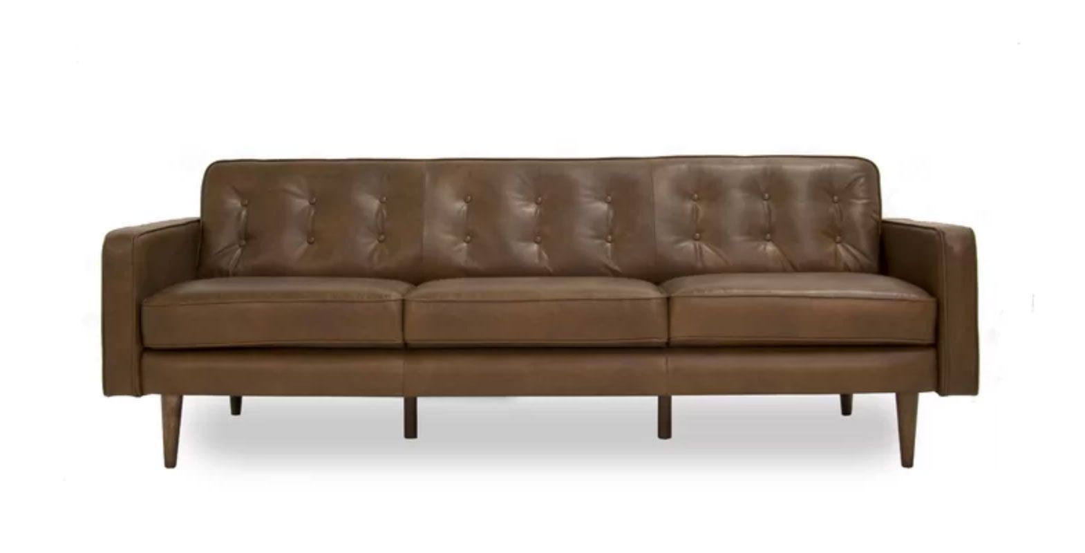 7 Affordable Leather Sofas Most With Free Shipping Modern