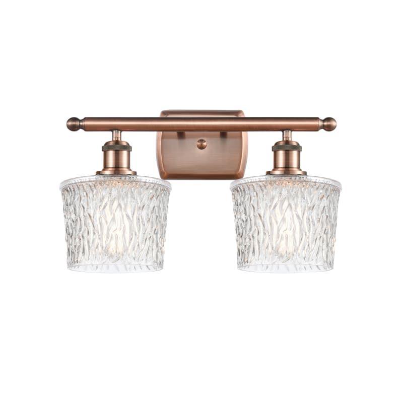"""Photo of Innovationen Beleuchtung 516-2W Niagra Niagra 2 Light 16 """"breite Badezimmer-Waschtischleuchte Antik Kupfer / klare Innenbeleuchtung Badezimmerleuchten Waschtischleuchte"""