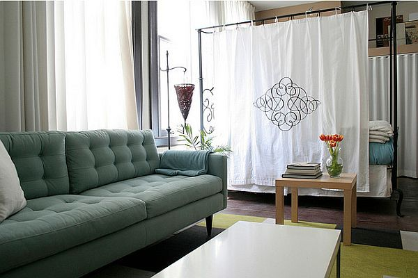 Diving A Home Without Using Walls Two Inspiring Designs Bedroom DividerCurtain Room