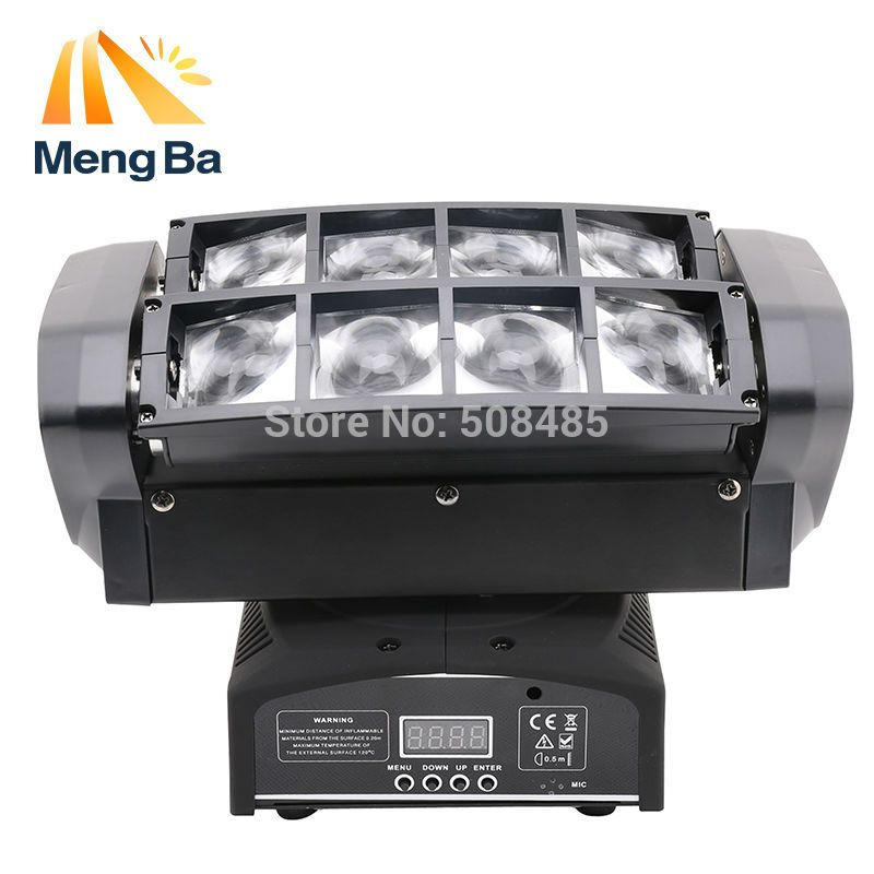 Free Shipping Led 8 10w Rgbw Cree Beam Light 8 Eyes Mini Spider Light Dmx512 Moving Head Light Dj Fest Home Bar Spider Light Dj Lighting Commercial Lighting