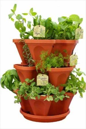 Mini Garden Stacker Planter - Stacking Gardening Pots
