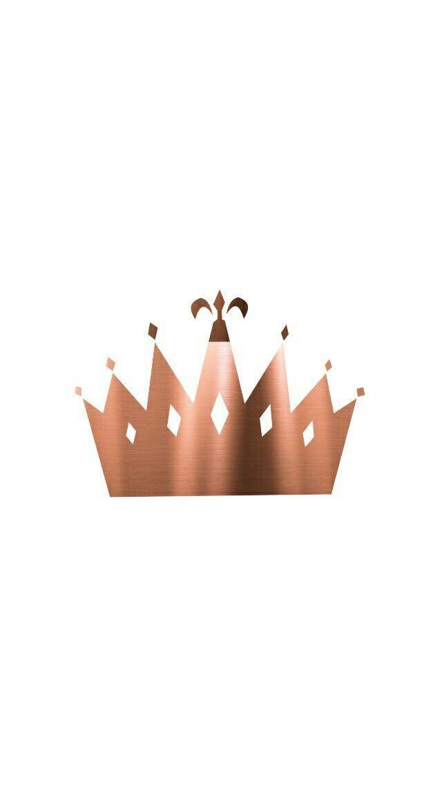 rose gold crown Fondo de pantalla oro rosa, Fondos de