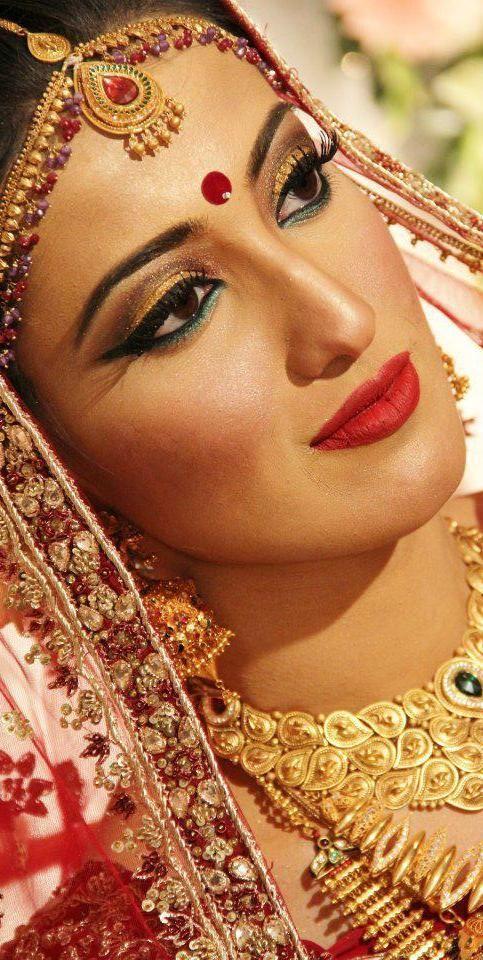 bride from Bangladesh Bengali bridal makeup, Bridal