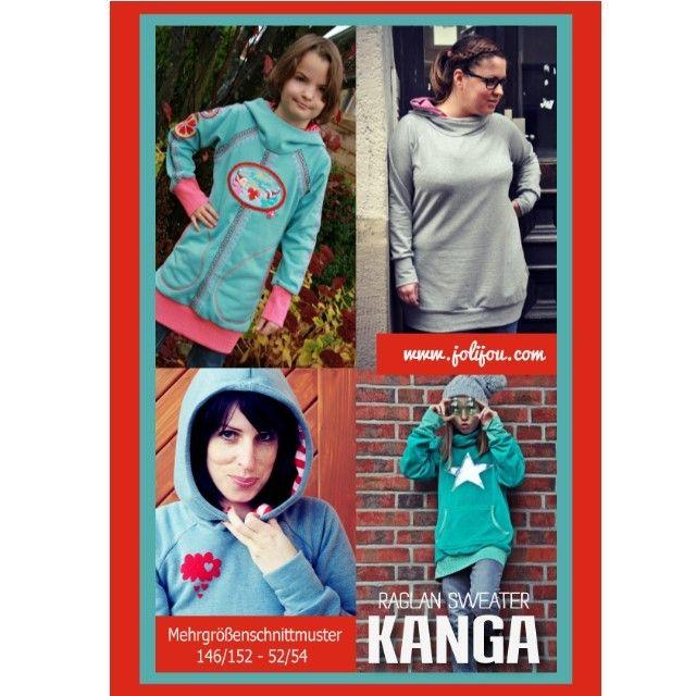 KANGA - Raglan-Sweater, Kreativ-Ebook - farbenmix Online-Shop - Schnittmuster, Anleitungen zum Nähen