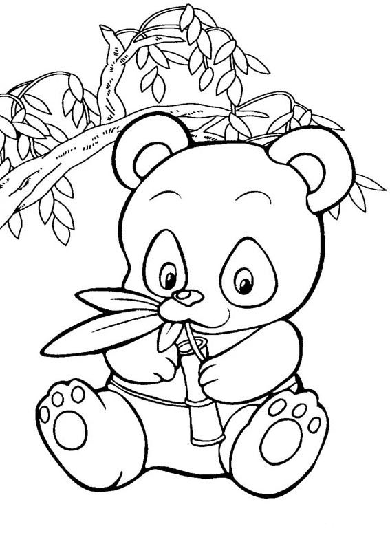 Pin By Birgit Keys On Clip Art Cute Panda Coloring Pages