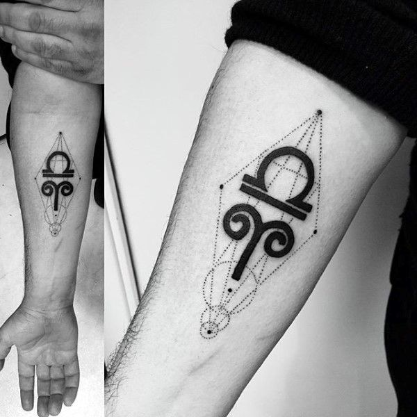 542dc58c7 60 Libra Tattoos For Men - Balanced Scale Ink Design Ideas | Tattoos ...