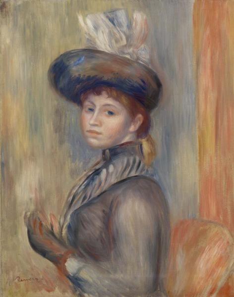 Pierre Auguste Renoir Girl in Gray Blue c 1889 oil on