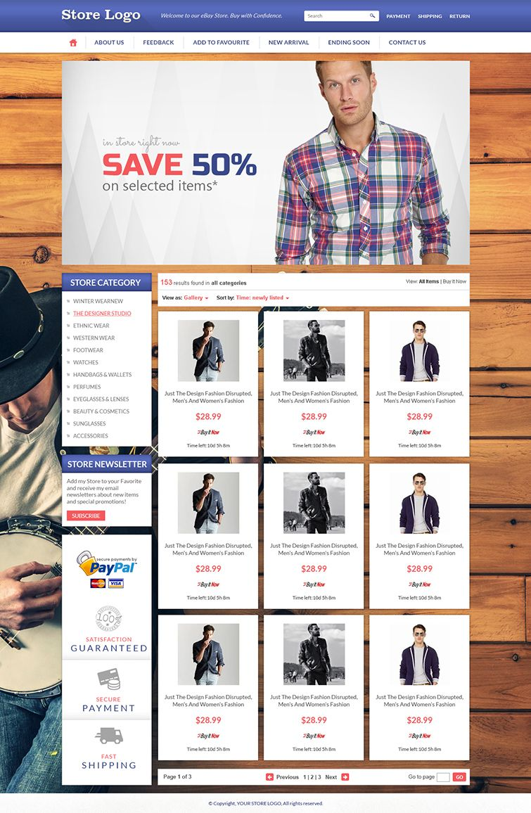 Get #eBay #Shop #Front #Design and Listing Auction HTML #Templates ...