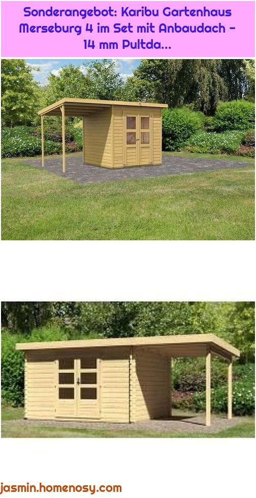 1. WoodFeeling Gartenhaus 28 mm Bastrup 7 natur Anbau 2m