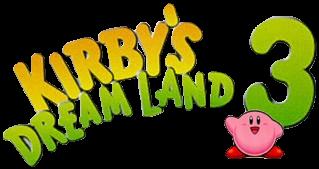 Kirby S Dream Land 3 Logo Kirby 3 Logo Mario Characters