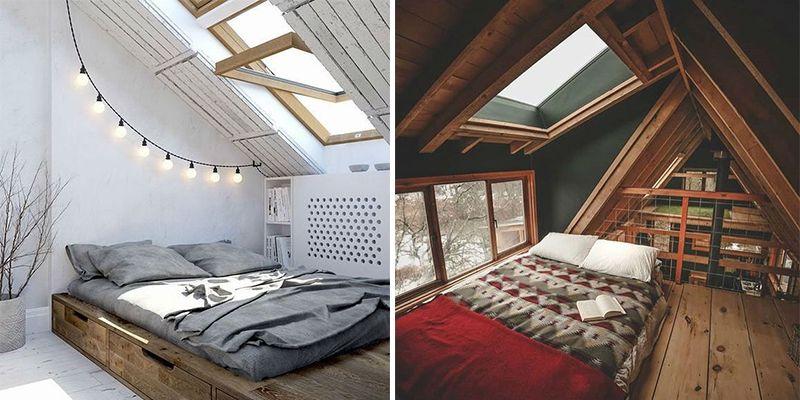 19 Dreamy Attic Loft Bedroom Decoration Ideas Loft House Bedroom Loft Attic Loft