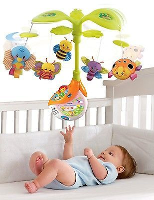 Vtech Dream N Play Crib Musical Blue Jungle Crib Mobile Music Toy Play Watch Vtech Baby Crib Toys Vtech