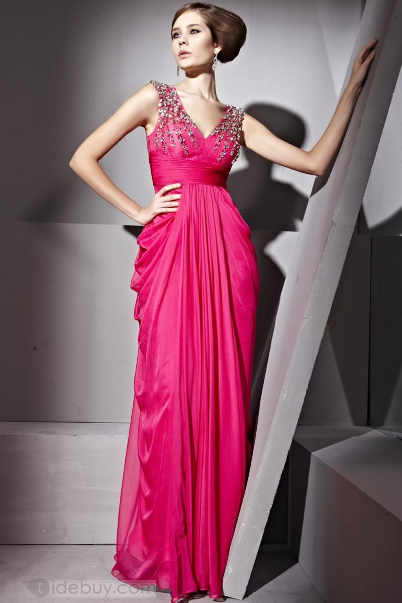 Charming Sheath/Column V-neck Sleeveless Prom/Evening Dress