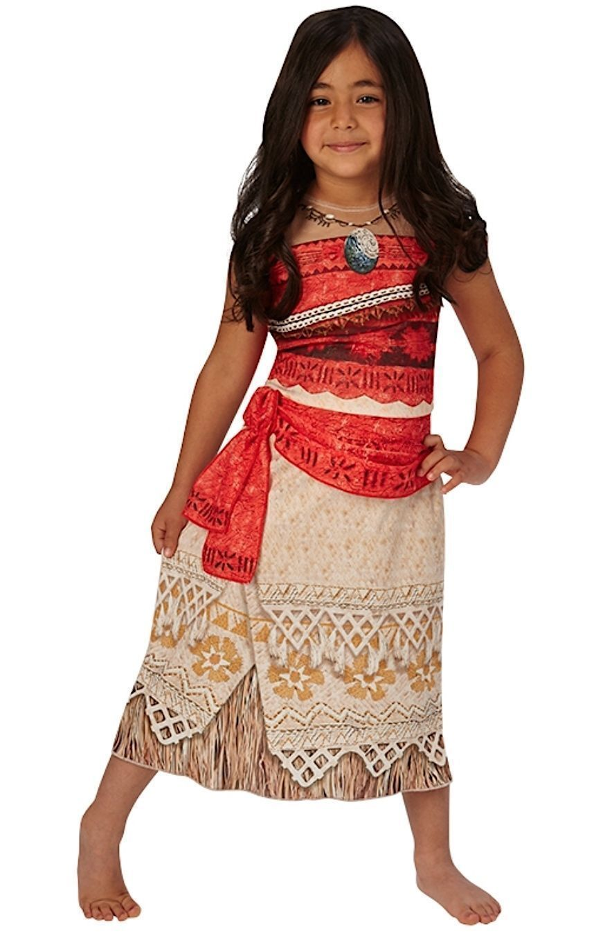 Girl/'s Kid/'s Cosplay Moana Fancy Dress Princess Hawaiian Book Day Flower Costume