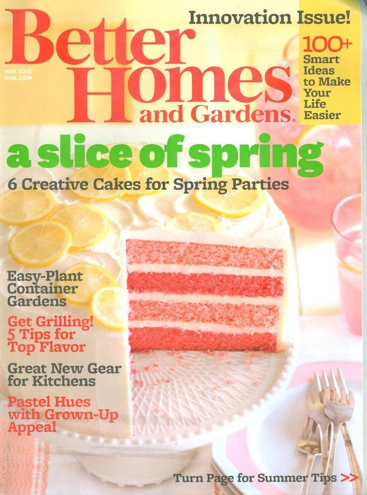 Better Homes Gardens Magazine Back Issue May 12 Cakes Grilling Container Gardens