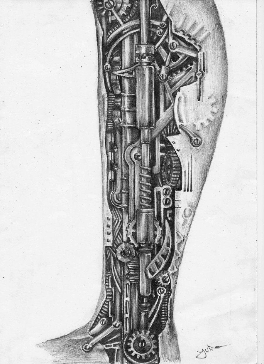 Tattoo gear tattoo sleeve mechanic tattoo mechanical tattoo gears - Fabulous Steampunk Ripped Skin Tattoos On Arm Tattoes Idea 2015 2016