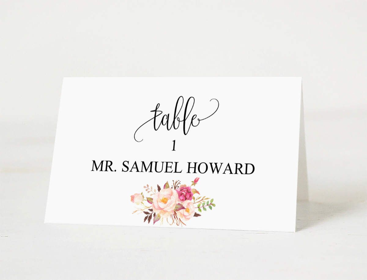 Wedding Place Cards Templates Wedding Place Card Printable Place