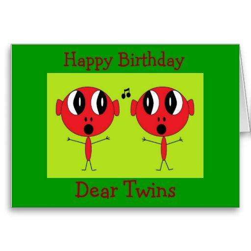 Happy Birthday Dear Twins Card Birthday Cards For Twins
