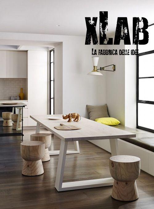 Tavoli Da Cucina Design.Tavolo Da Cucina In Legno E Ferro Design Italiano Xlab Tavoli Da