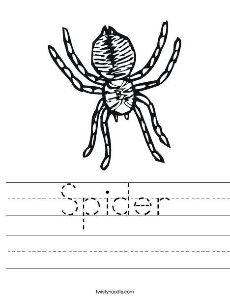 Spider Worksheet Twisty Noodle Worksheets Transportation Worksheet Montessori Activities